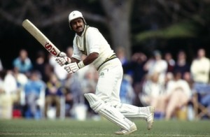 BT Sport, Cricket, pic: May 1992, Lavinia Duchess of Norfolk's XI V Pakistan at Arundel, Javed Miandad, the Pakistan batsman, one of their greatest players, played in 124 Test matches for Pakistan between 1976-1993